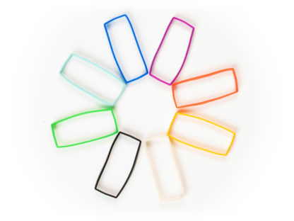 Silicone bands for SYNC E in rainbow colors