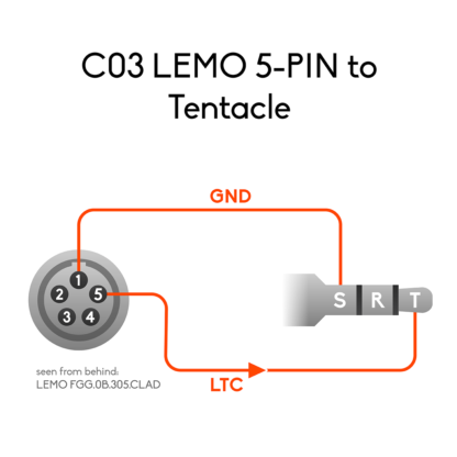 Wiring of LEMO 5-pin to 3.5mm mini jack connector