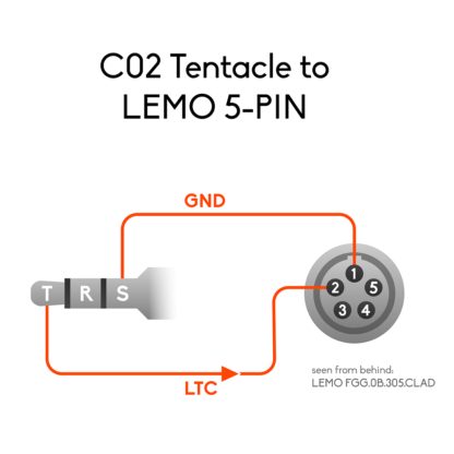 Wiring of 3.5mm mini jack to LEMO 5-pin connector