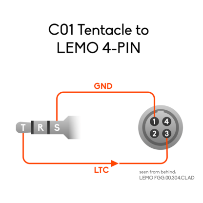Wiring of 3.5mm mini jack to LEMO 4-pin connector