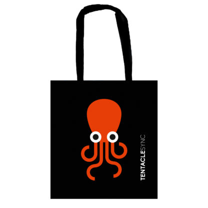 Tentacle Sync tote bag black with octopus print